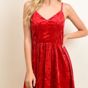 ae9d83459cb Le Lis Dresses - Le Lis Red Velvet Dress